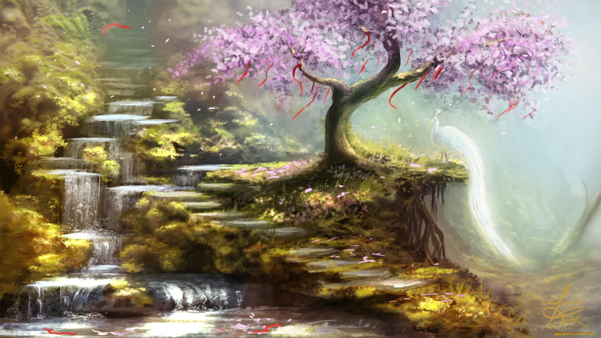 волшебный водопад рисунок использовать